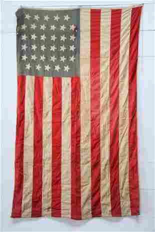 """34 Star Civil War Era Flag 90"""" x 54"""""""