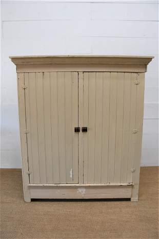 "Midwestern Painted Two Door Cupboard 72 1/2""H, 65"" x"