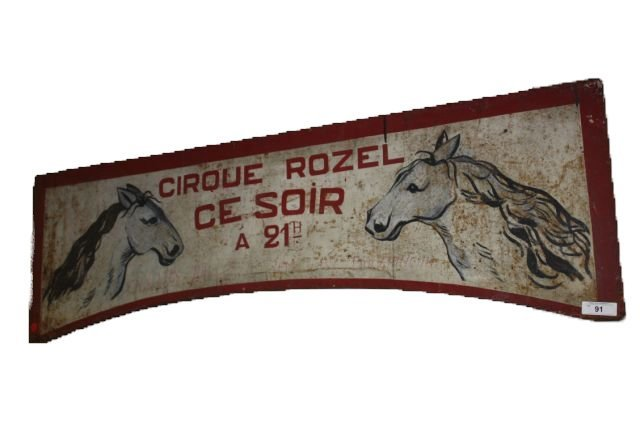 91: French Trade Sign with Horses