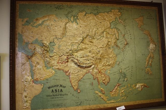 3A: Framed Map of Asia