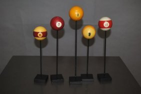 2: Lot of Pool Balls on Stand