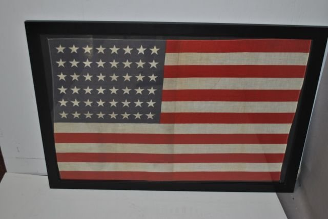8: Framed 48 Star Flag