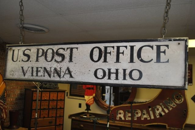 22: US Post Office Sign wood sign