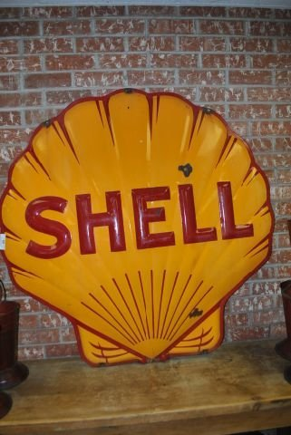 43: Shell Sign- Porcelain