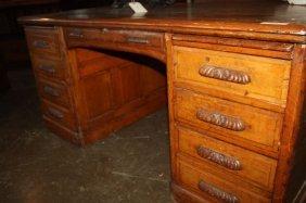 10A: Oak Knock Down Desk