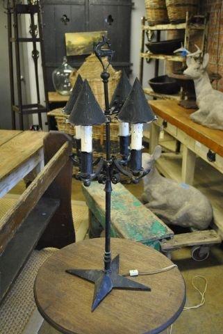 Iron Table Lamp w/ Deer Finial