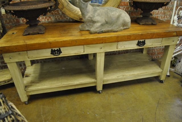 French Butcher Block Work Table