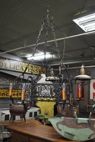 Iron French Chandelier