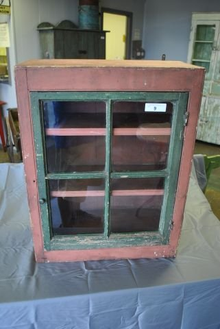 Early Painted Hanging Cupboard
