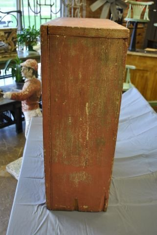 Early Painted Hanging Cupboard - 2