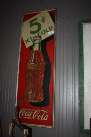 Coca Cola Bottle Sign- Tin