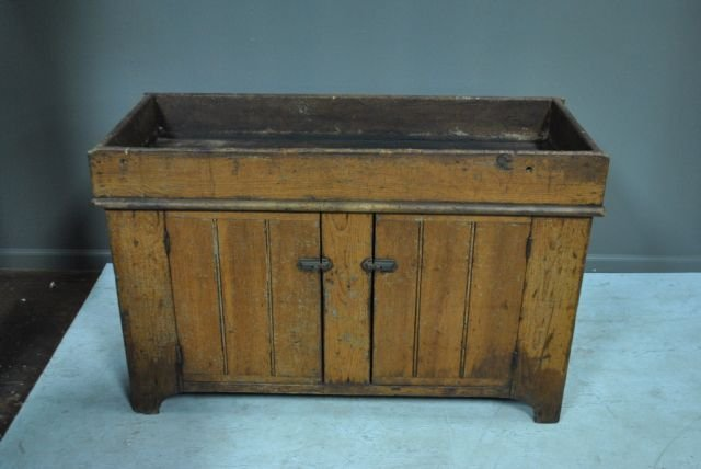 "Painted Pa. Dry Sink 31 3/4""H, 49""L, 20 1/4""W"