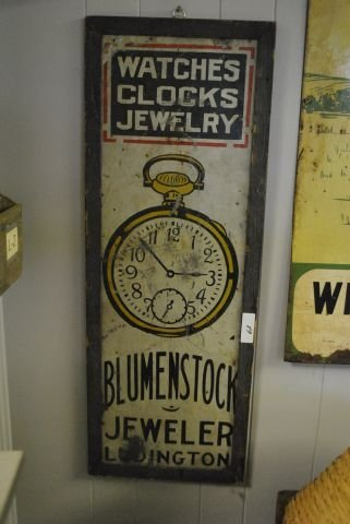 """Watches"" Trade Sign- Tin, Wood Frame"