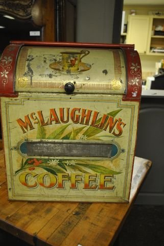 McLaughlin's Coffee Bin-Metal