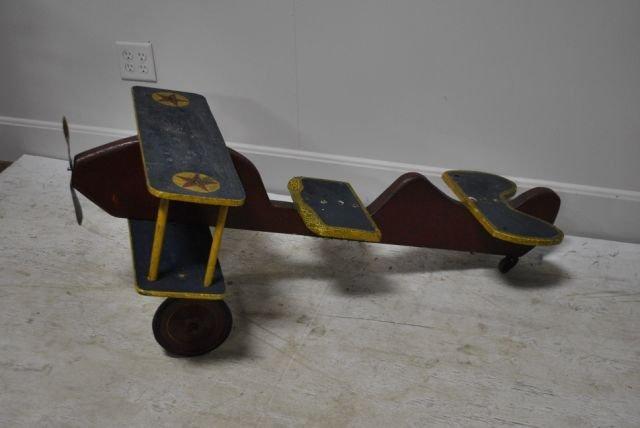 Child's Airplane Push Ride
