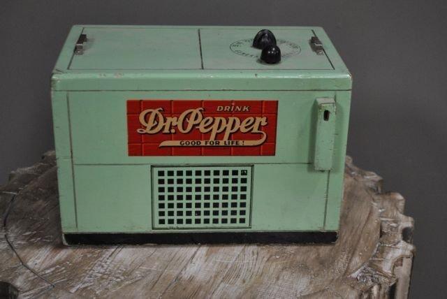 "Wooden Dr. Pepper Cooler Radio 8 1/2""T, 12""L, 7 1/2""W"