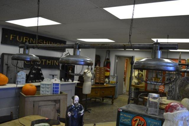 """Industrial Hanging Light - 3 Light 73""""L"""