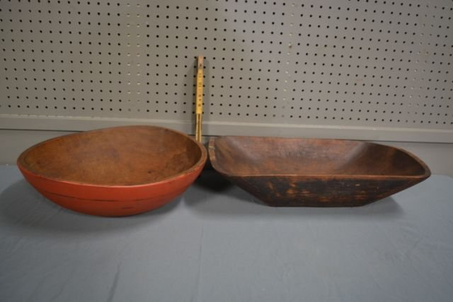 Painted Dough Bowl X2