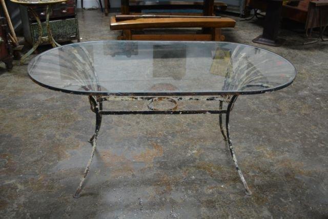 Glass Top Garden Table
