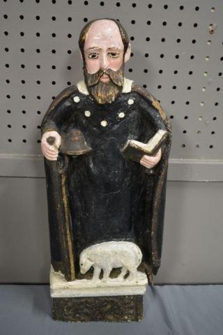 Carved Wood Saint