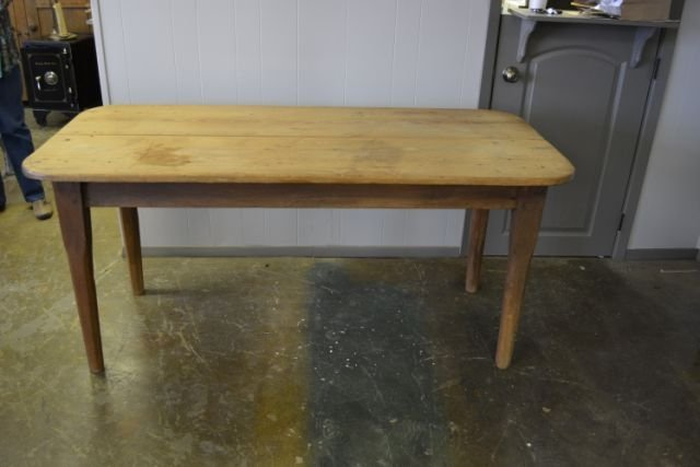 "Farm Table 31""H, 67 1/2""L, 31 3/4""W"