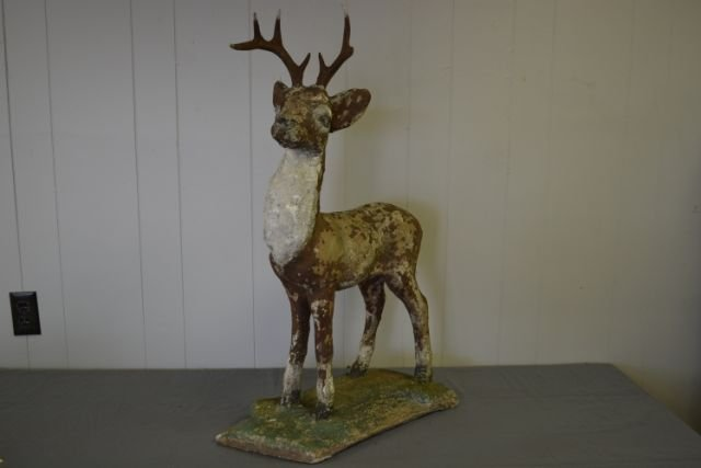 """Concrete Deer with Great Surface 33""""H"""