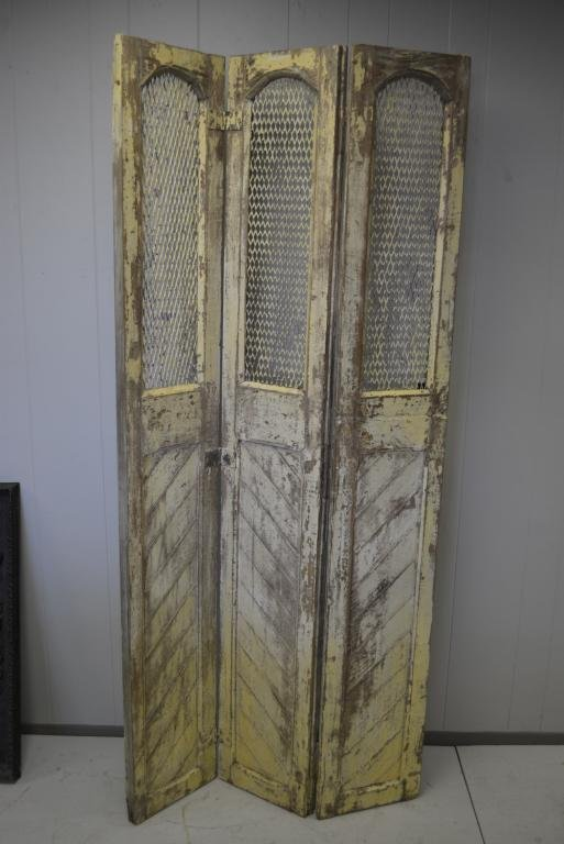 """Painted Wood Screen 77""""H, 36""""L"""