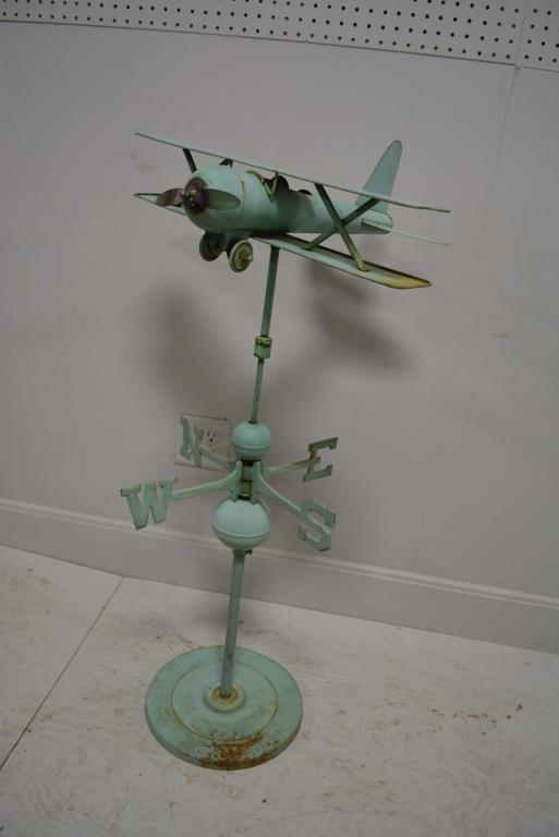 "Airplane Weathervane on Stand 41 1/2""H"