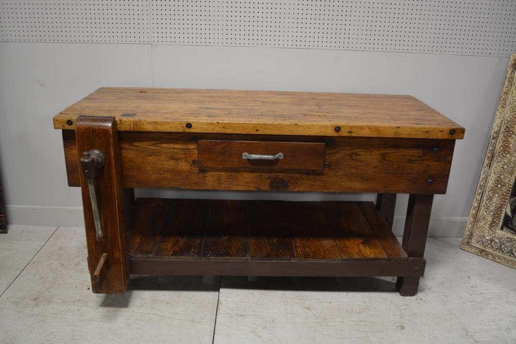 """Work Bench 38""""H, 72""""L, 38 3/4""""W(at vise)"""