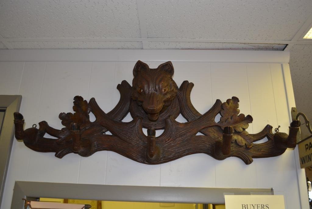 Fine Carved Black Forest with Whip Hanger