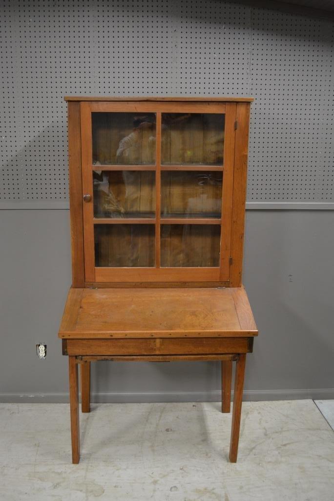 "Early Plantation Desk 69""H, 35 1/4""L, 22""W"