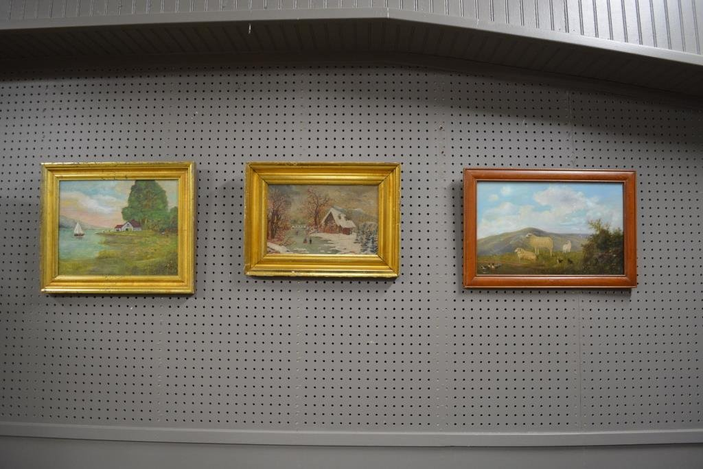 3pc. Lot- Oil Paintings