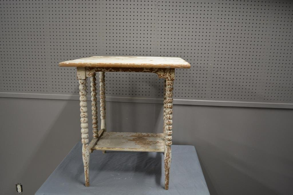 """Painted Stand 27 1/4""""H, 24""""L, 24""""W"""