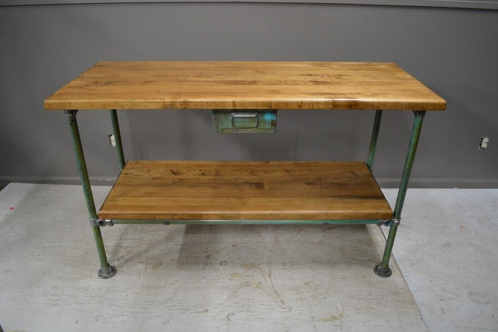 """Industrial Work Table with Drawer 36 1/4""""H, 60""""L, 24""""W"""