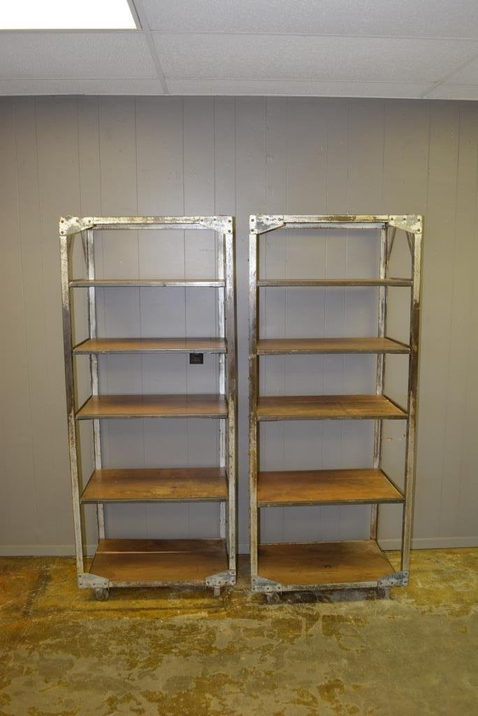 "Industrial Rack on Wheels X2 69 1/2""H, 29""L, 17 3/4""W"