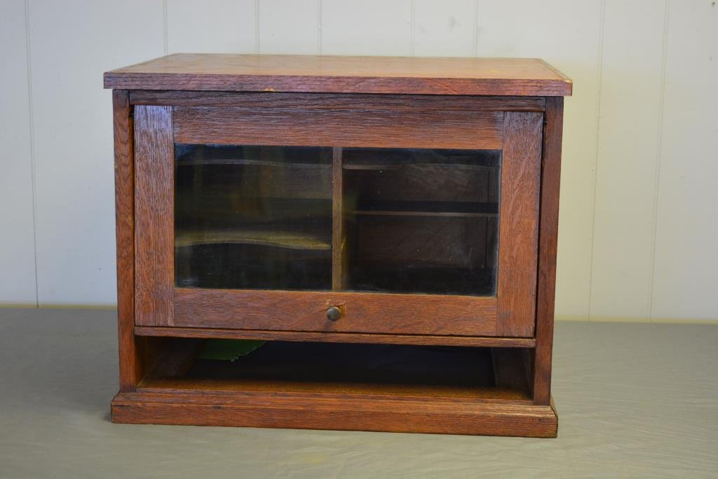"Oak Office File Unit 17 1/4""H, 21 1/2""L, 17 1/4""W"
