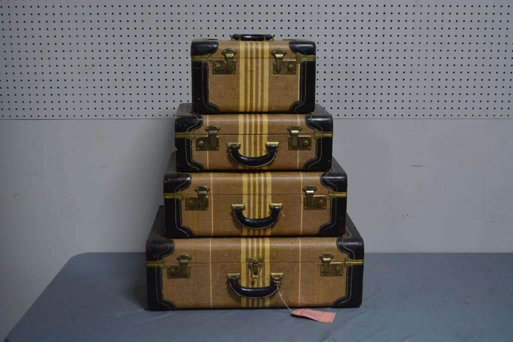 4 Piece Vintage Luggage Lot