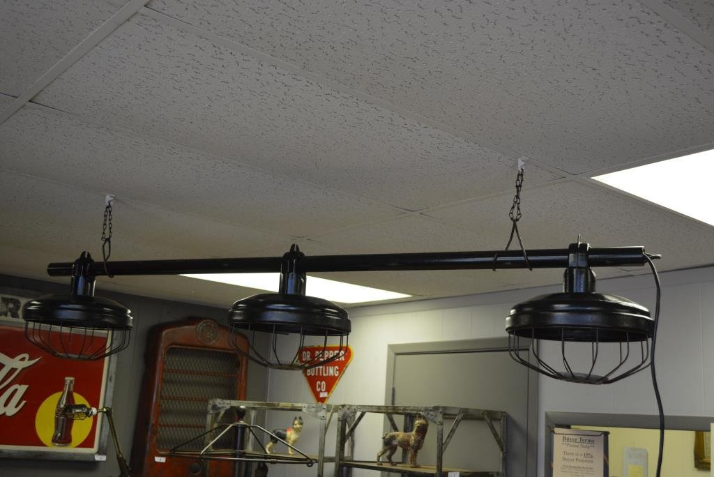 "Hanging Industrial Light 73""L"