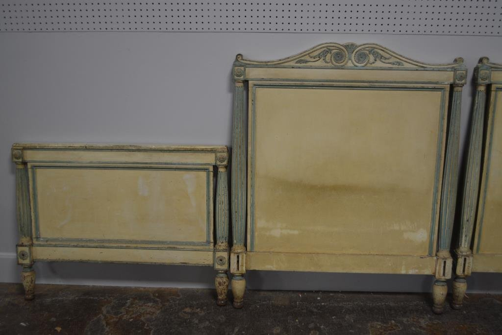 Painted French Twin Beds X2 - 2