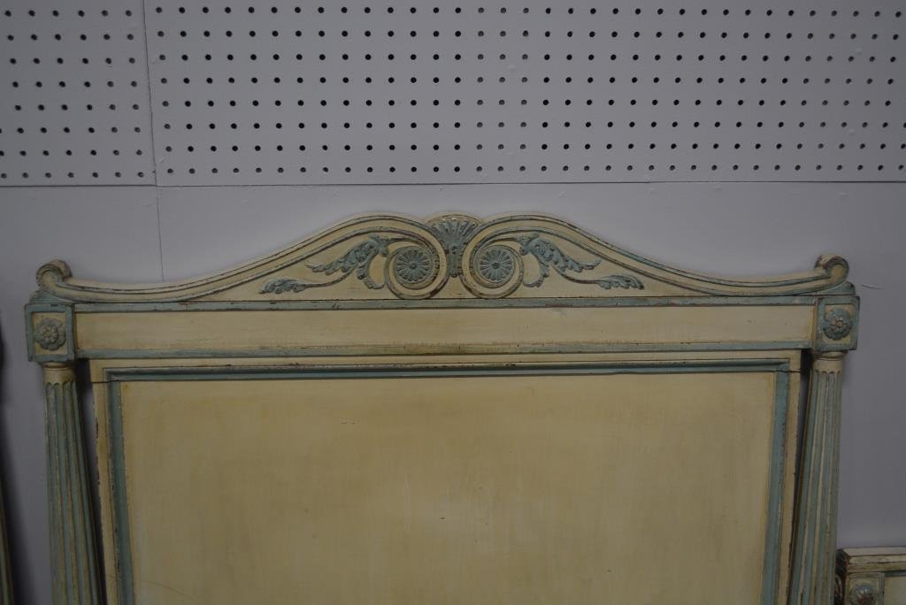 Painted French Twin Beds X2 - 5