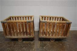 French Laundry Cart X2 32 14H  40 14L  28 14W