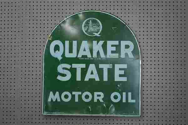 Quaker State Motor Oil Sign double sided
