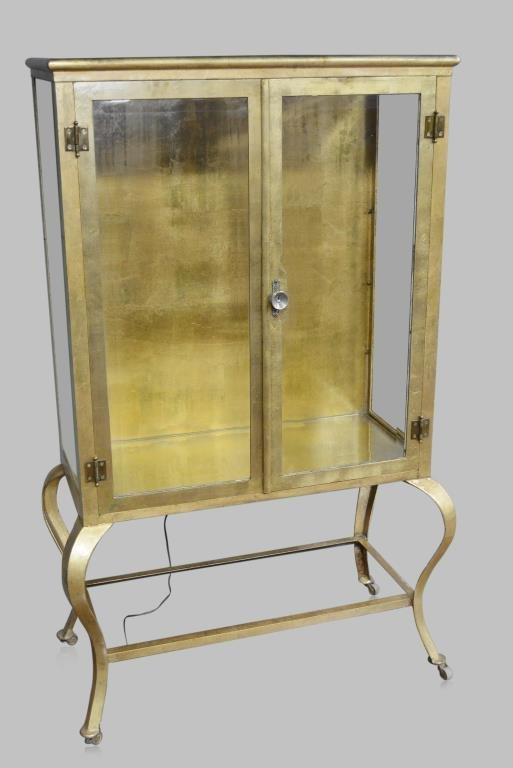 """2-Door Medical Cabinet w/ Cabriole Legs 65 1/4""""H,  40"""
