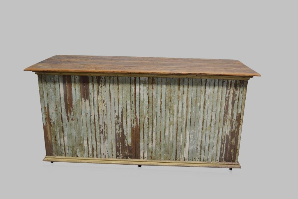 """Painted Store Counter 38 1/2""""H,  79 1/2""""L,  32 1/4""""W"""