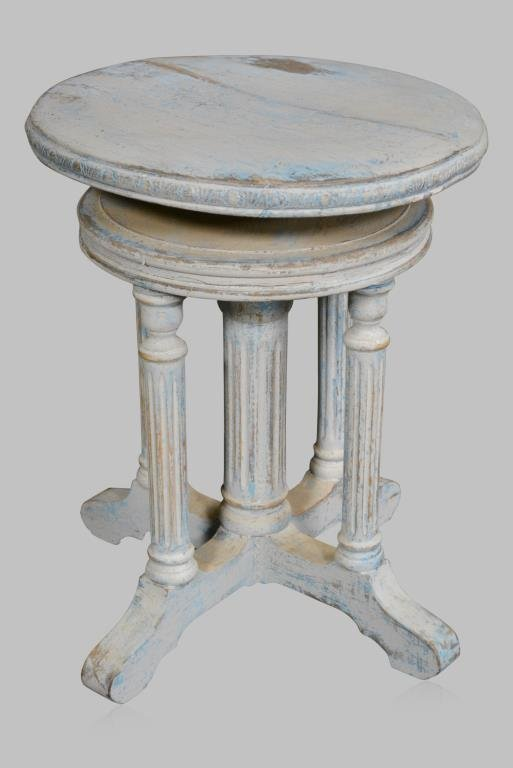 """Painted Adjustable Stand 18 1/2""""H,  16 1/2""""  x   16"""