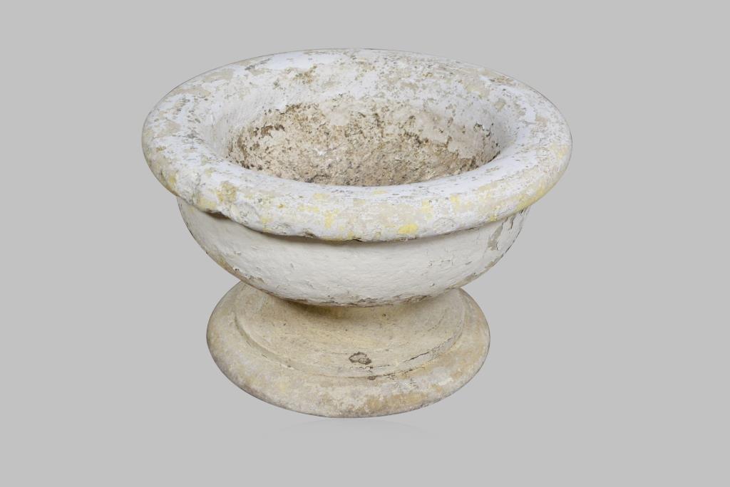 "2-Piece Concrete Urn 17 3/4""H,  28 1/4"" diam."