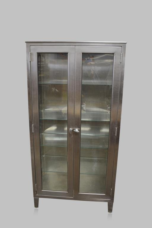 """Stainless Steel Medical Cabinet 72 1/4""""H,  36 1/2""""L,"""