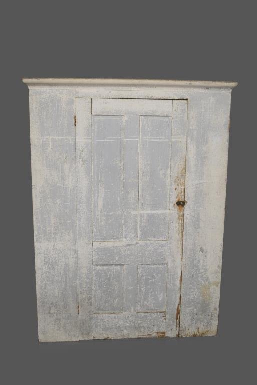 "Early New England Painted Storage Cupboard 75""H,   56"