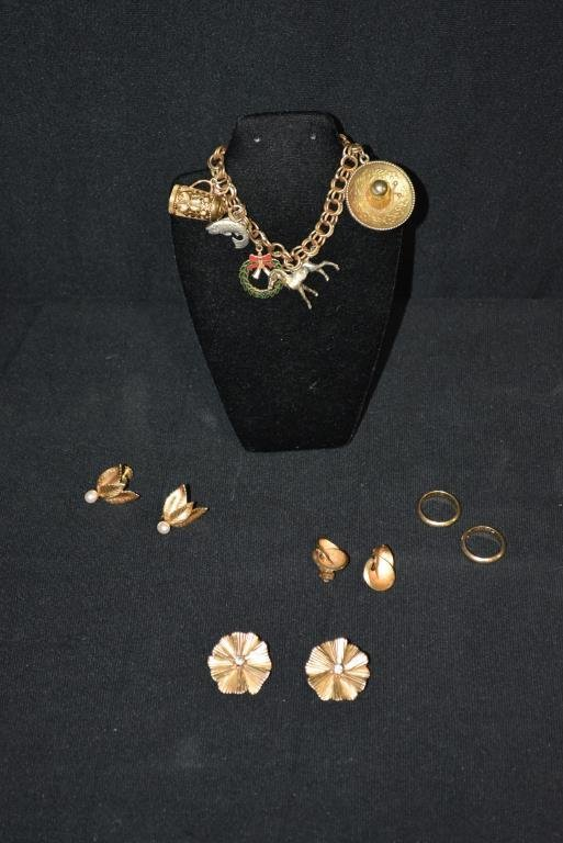 9pc. Lot  of Assorted Jewelry 1 -  Bracelet - 14K