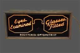 "Lighted Optometrist Sign 9 1/4""H, 21 1/4""L, 6""W"